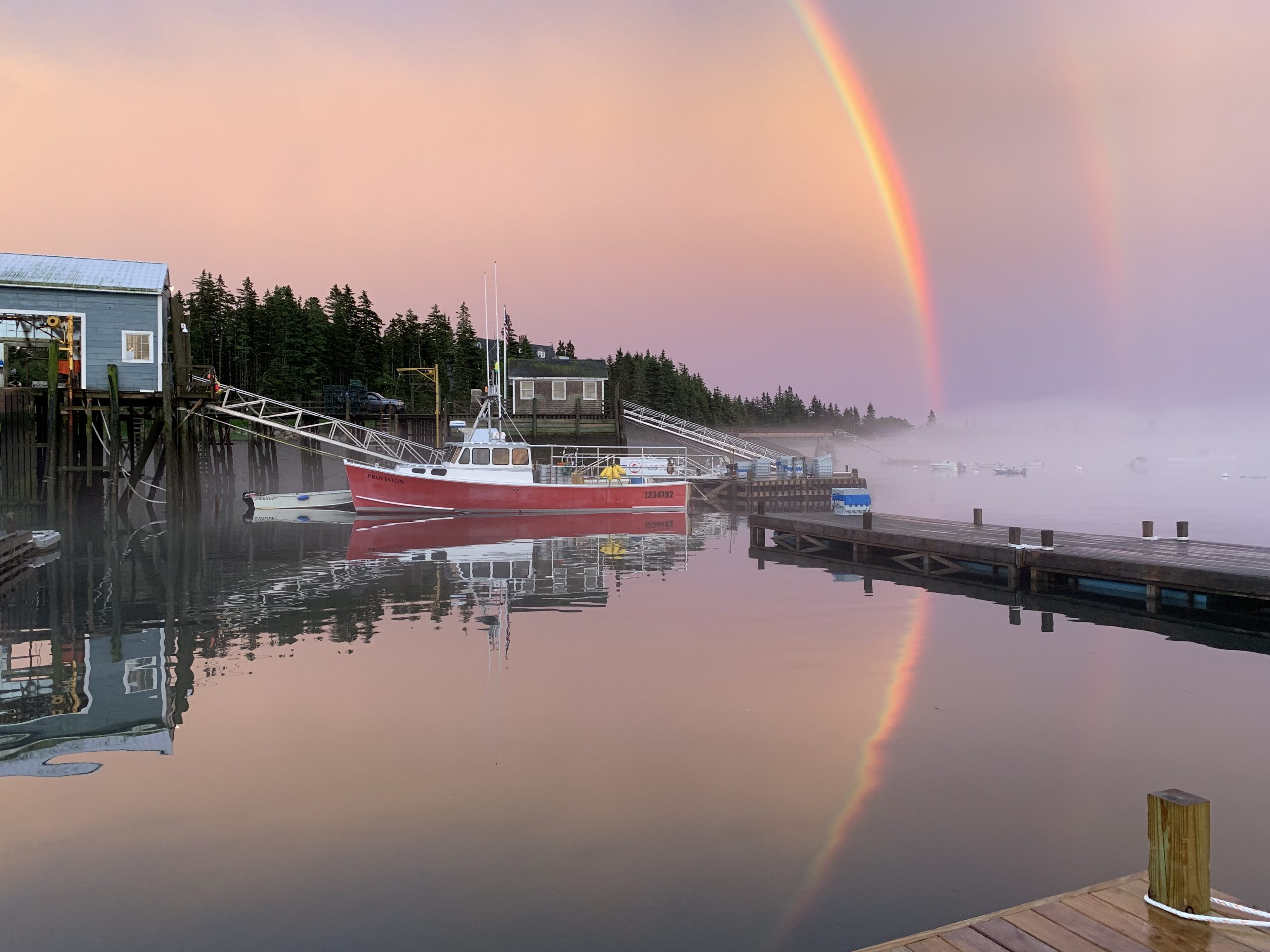 Fisherman's co-op in a rainbow by Jessica Reece